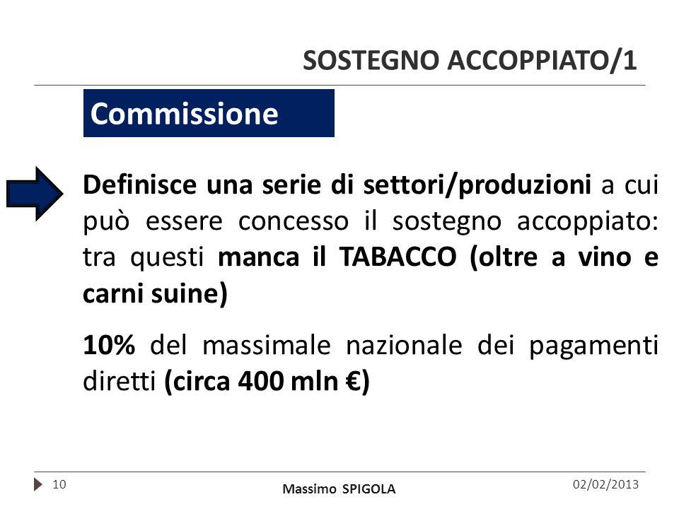 Commissione SOSTEGNO ACCOPPIATO/1