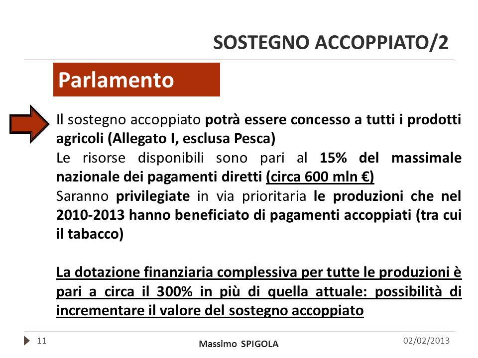 Parlamento SOSTEGNO ACCOPPIATO/2
