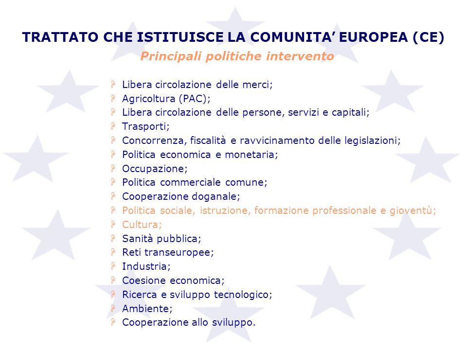 TRATTATO CHE ISTITUISCE LA COMUNITA' EUROPEA (CE)