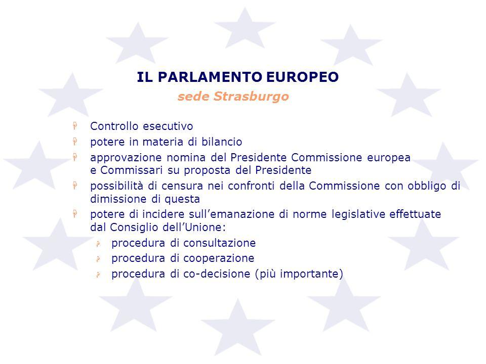 IL PARLAMENTO EUROPEO sede Strasburgo Controllo esecutivo