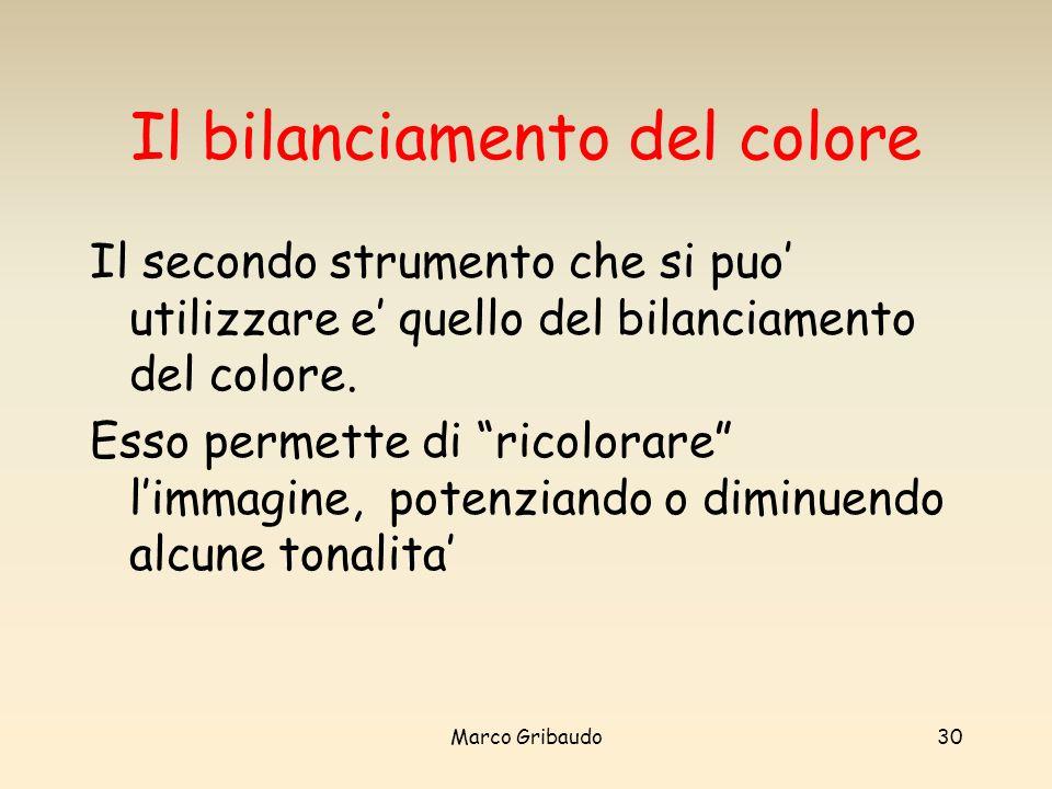 Il bilanciamento del colore