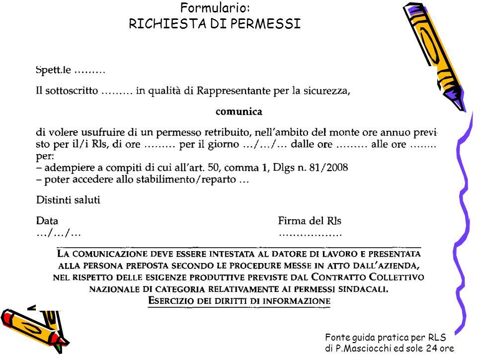 Formulario: RICHIESTA DI PERMESSI