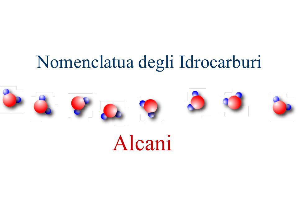 Nomenclatua degli Idrocarburi