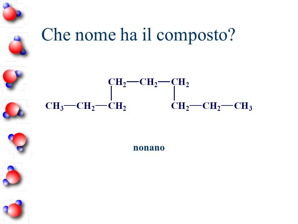 Che nome ha il composto nonano