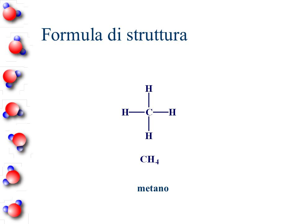 Formula di struttura metano