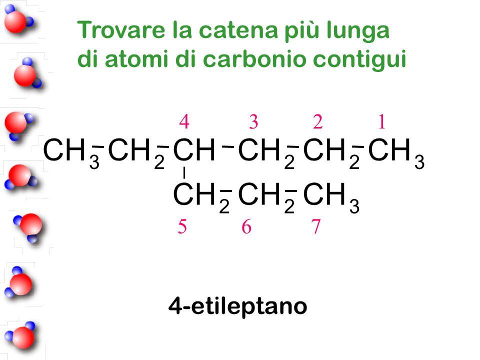 C H Trovare la catena più lunga di atomi di carbonio contigui
