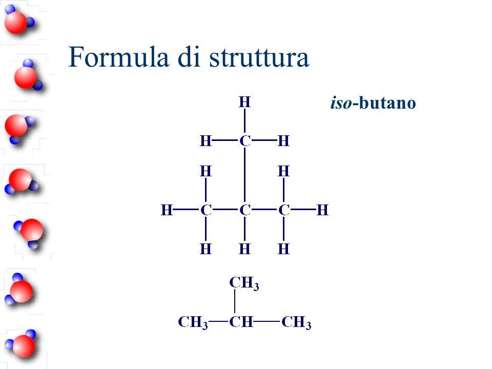 Formula di struttura iso-butano