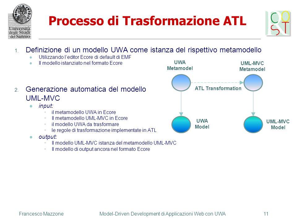 Processo di Trasformazione ATL