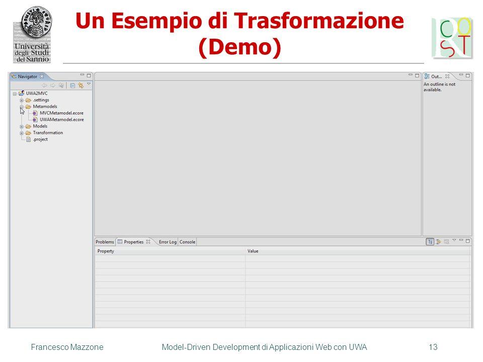 Un Esempio di Trasformazione (Demo)