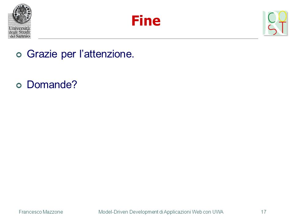 Model-Driven Development di Applicazioni Web con UWA