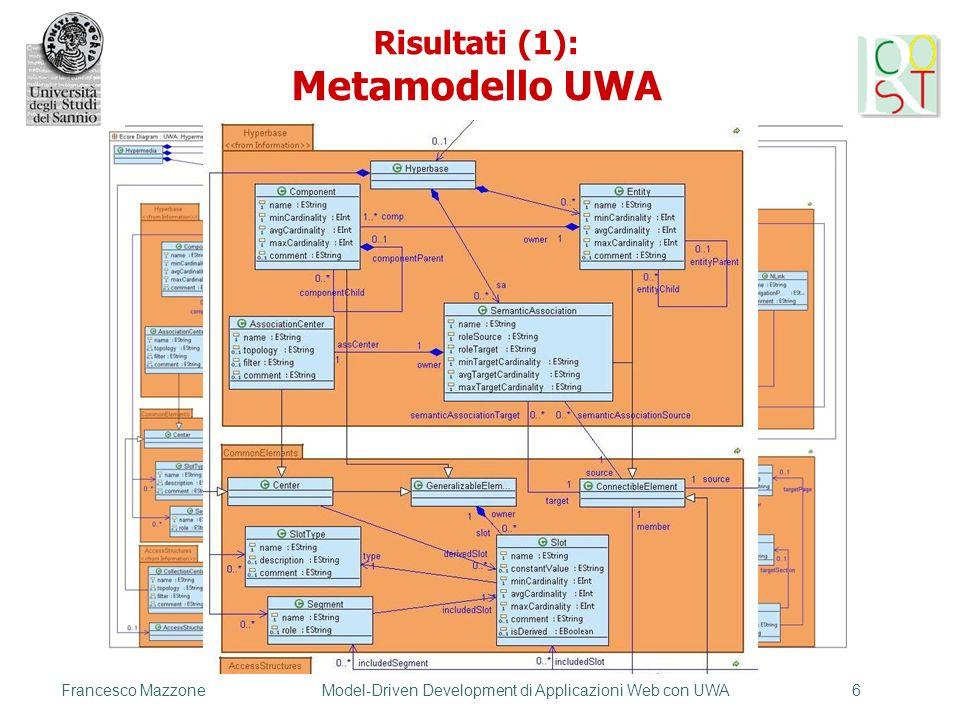 Risultati (1): Metamodello UWA