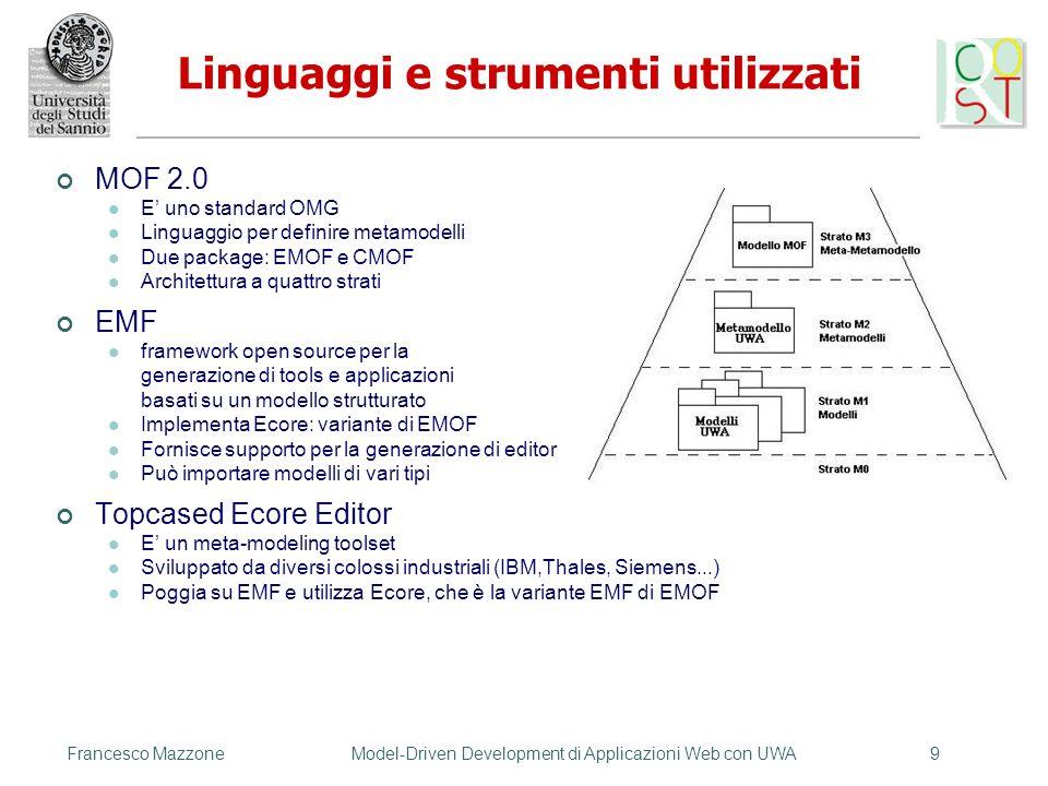 Linguaggi e strumenti utilizzati