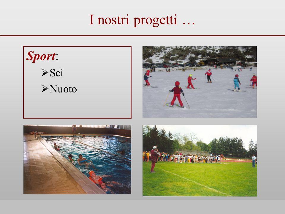 I nostri progetti … Sport: Sci Nuoto