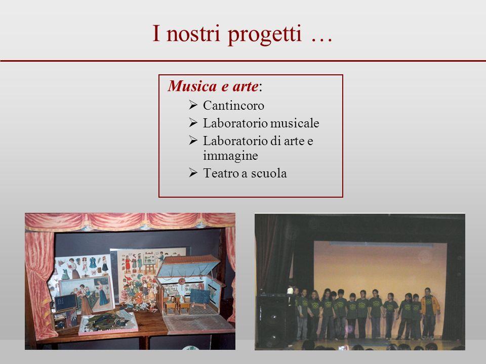 I nostri progetti … Musica e arte: Cantincoro Laboratorio musicale