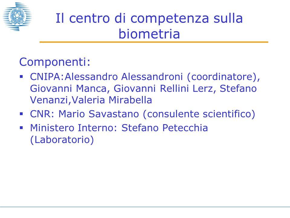 Il centro di competenza sulla biometria