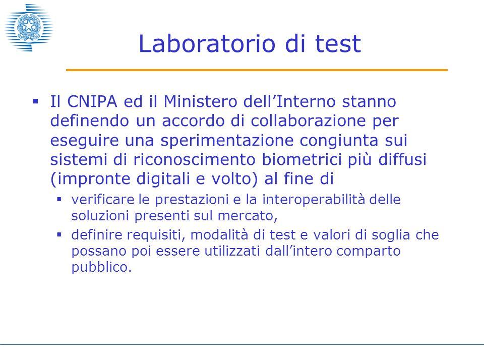 Laboratorio di test