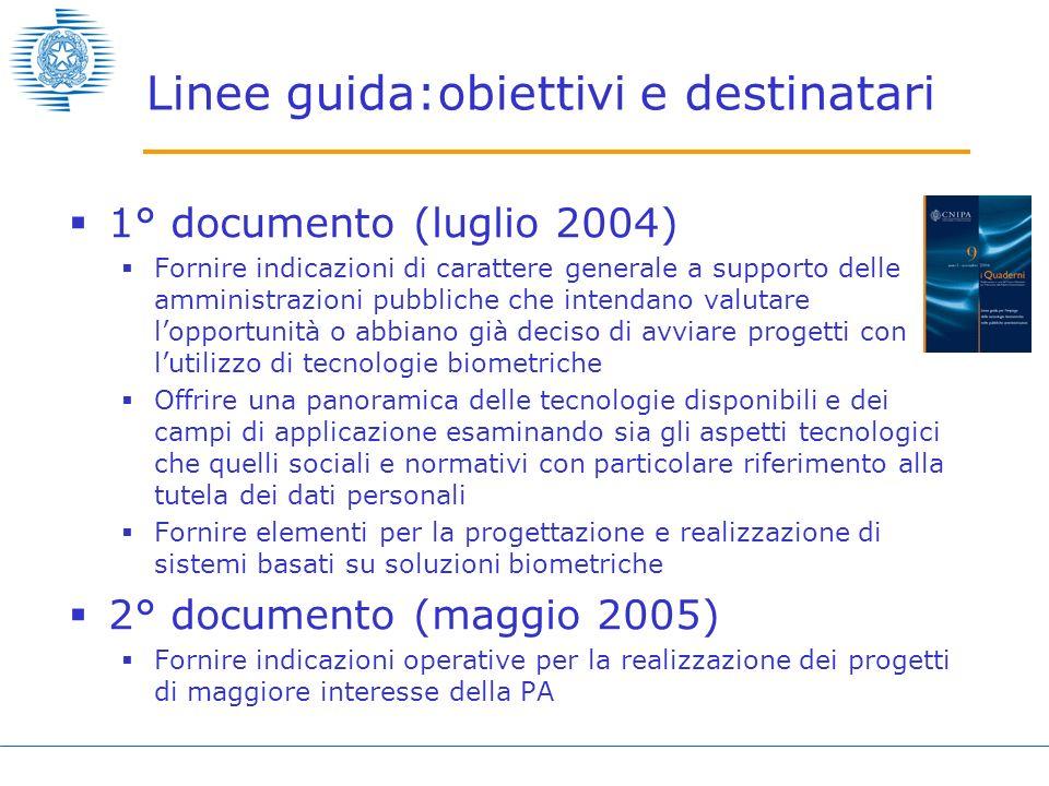 Linee guida:obiettivi e destinatari
