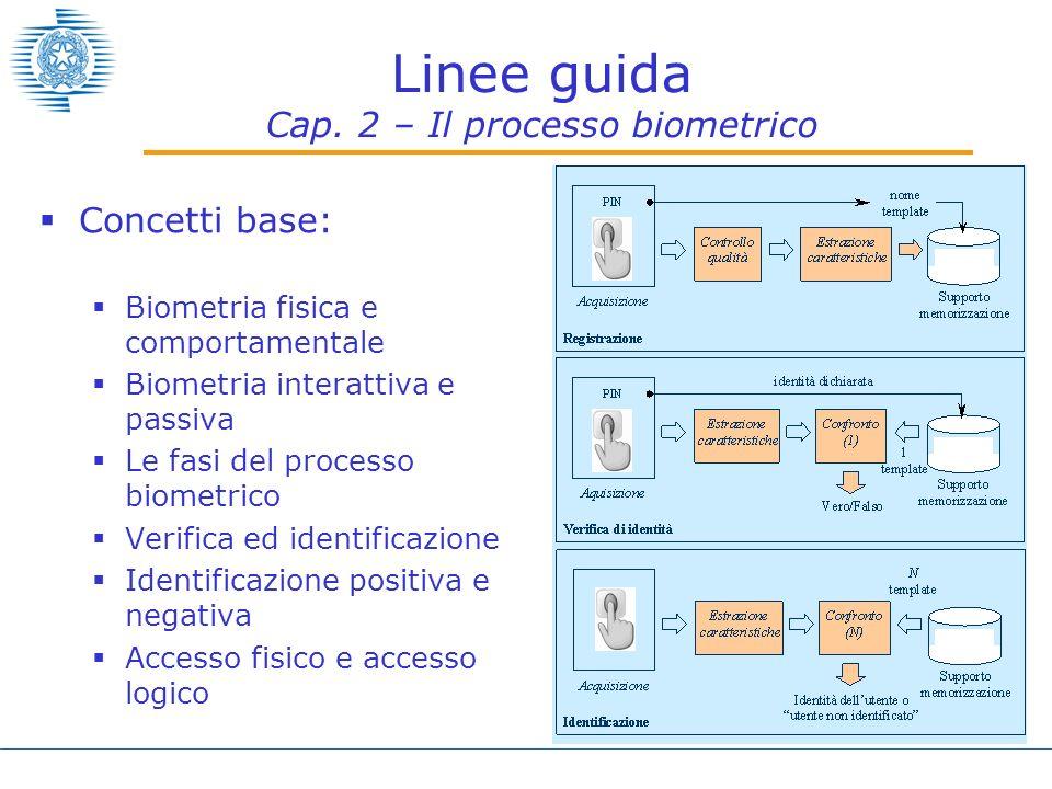 Linee guida Cap. 2 – Il processo biometrico