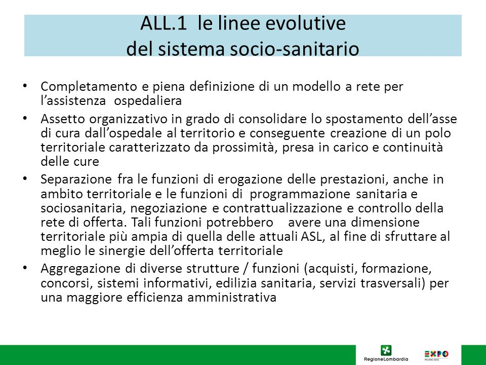 ALL.1 le linee evolutive del sistema socio-sanitario