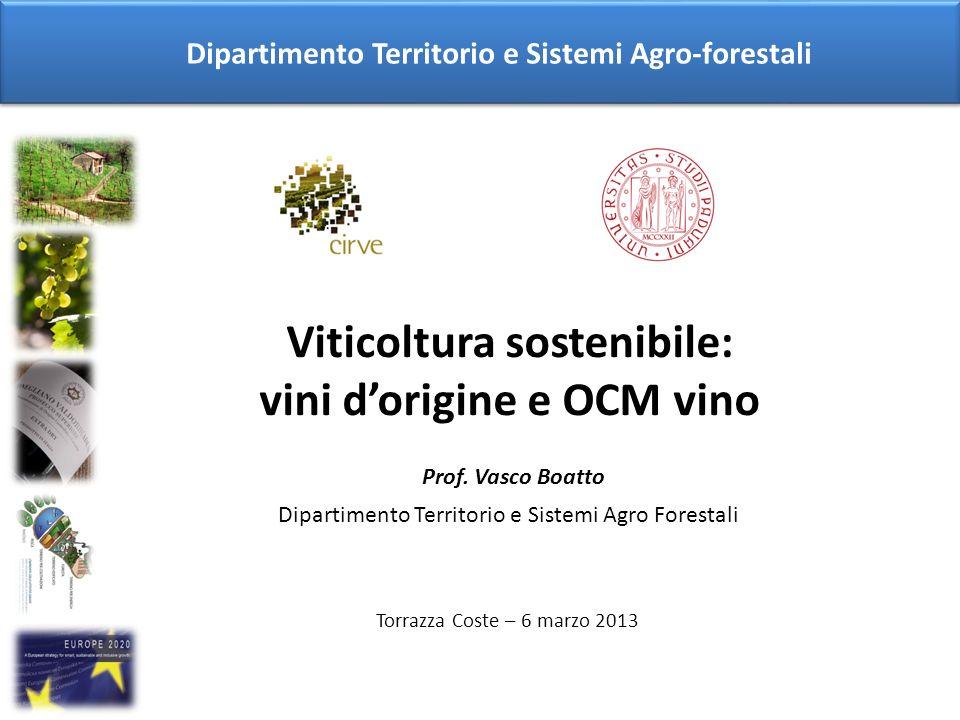 Viticoltura sostenibile: vini d'origine e OCM vino
