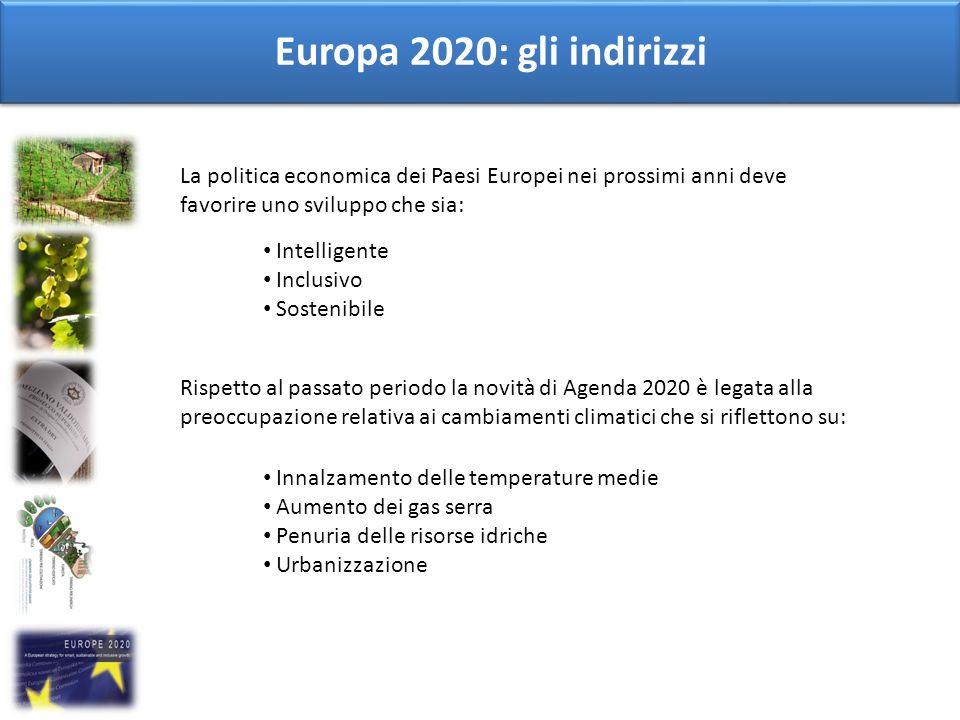 Europa 2020: gli indirizzi La politica economica dei Paesi Europei nei prossimi anni deve favorire uno sviluppo che sia: