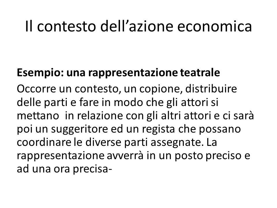 Il contesto dell'azione economica