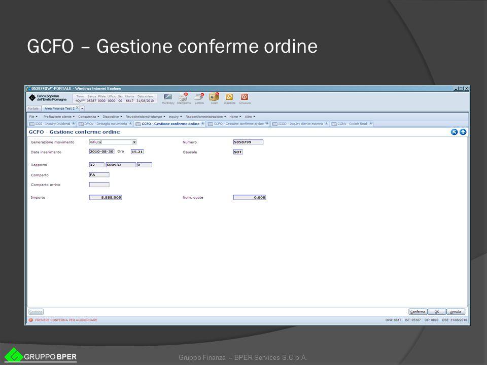GCFO – Gestione conferme ordine