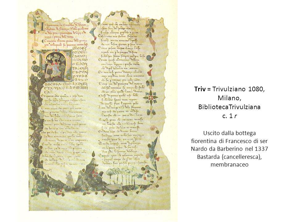 Triv = Trivulziano 1080, Milano, BibliotecaTrivulziana