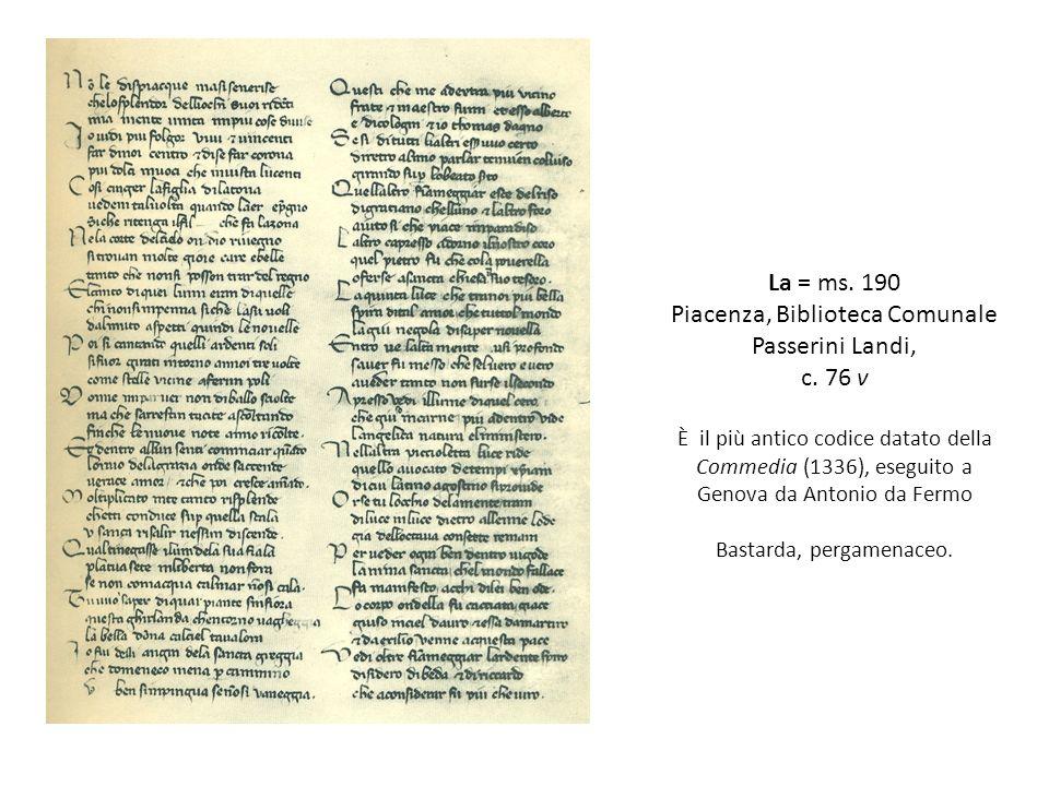 Piacenza, Biblioteca Comunale Passerini Landi, c. 76 v