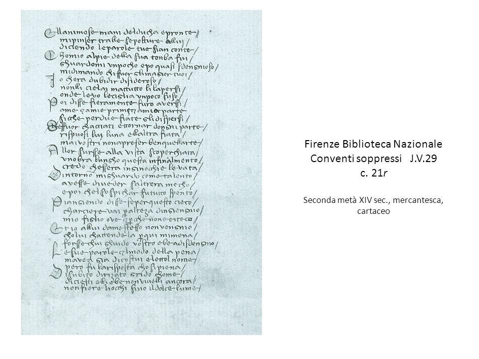 Firenze Biblioteca Nazionale Conventi soppressi J.V.29 c. 21r