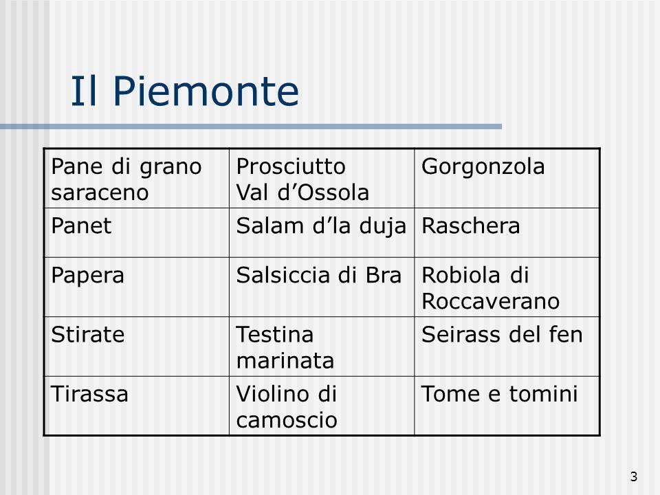 Il Piemonte Pane di grano saraceno Prosciutto Val d'Ossola Gorgonzola