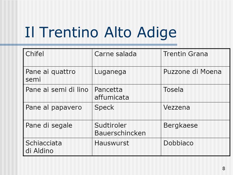 Il Trentino Alto Adige Chifel Carne salada Trentin Grana