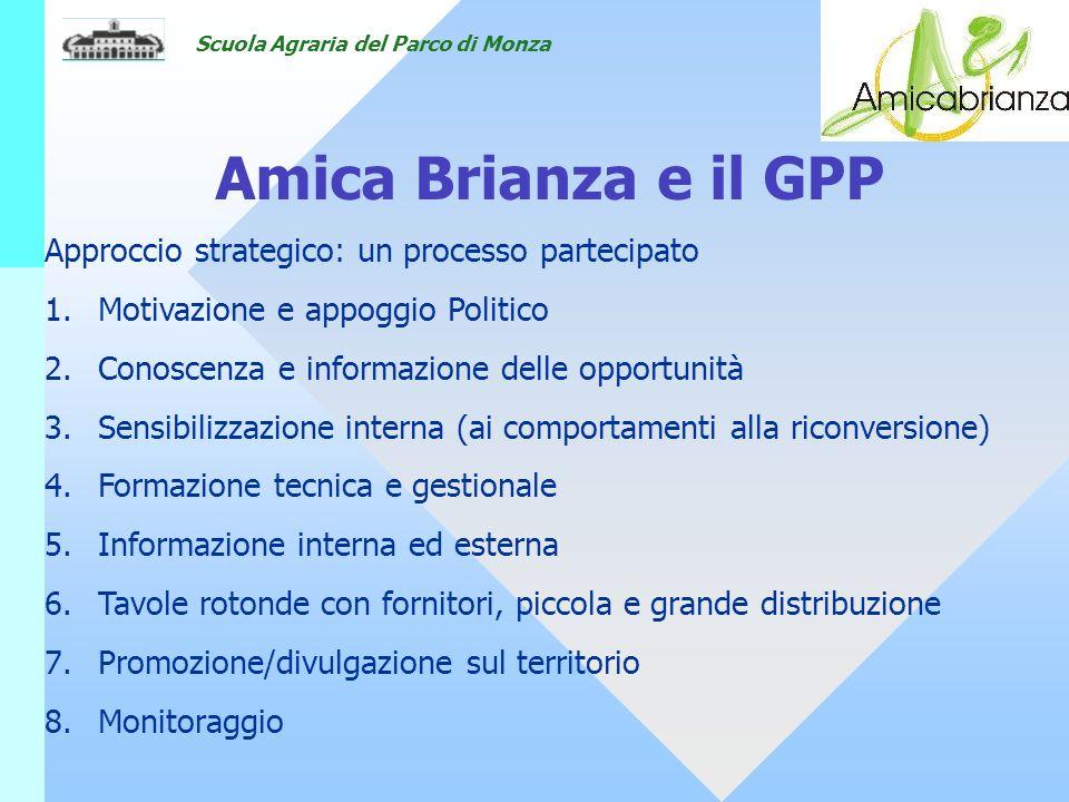 Amica Brianza e il GPP Approccio strategico: un processo partecipato