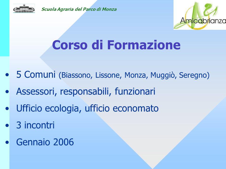 18/05/07 Corso di Formazione. 5 Comuni (Biassono, Lissone, Monza, Muggiò, Seregno) Assessori, responsabili, funzionari.