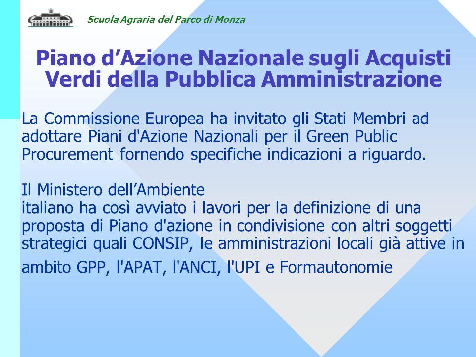 18/05/07 Piano d'Azione Nazionale sugli Acquisti Verdi della Pubblica Amministrazione.