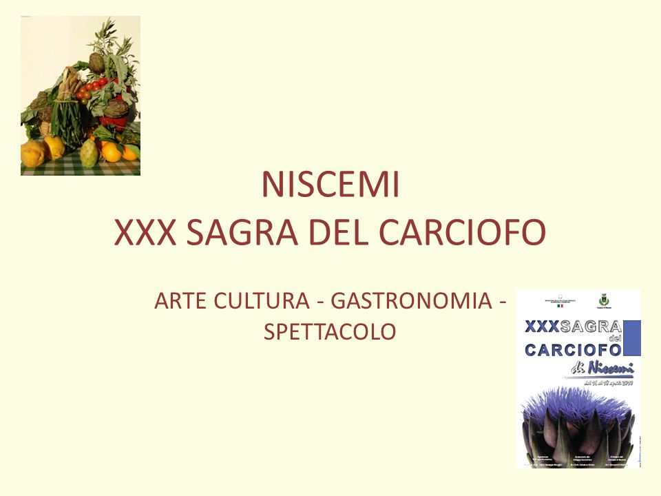 NISCEMI XXX SAGRA DEL CARCIOFO