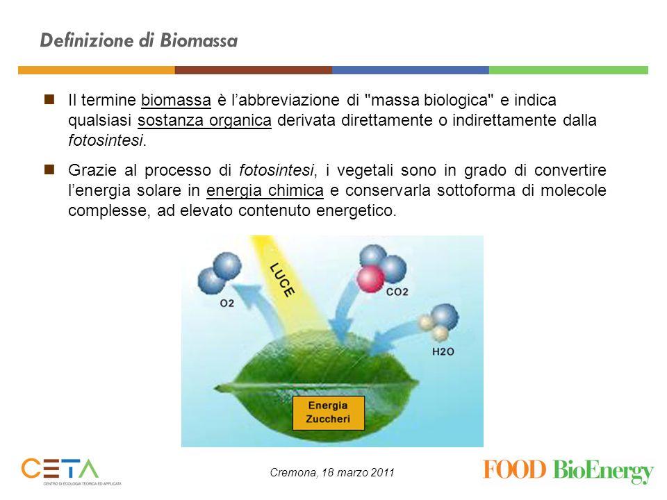 Definizione di Biomassa