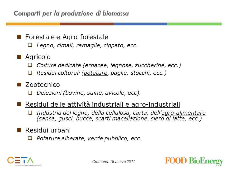 Comparti per la produzione di biomassa