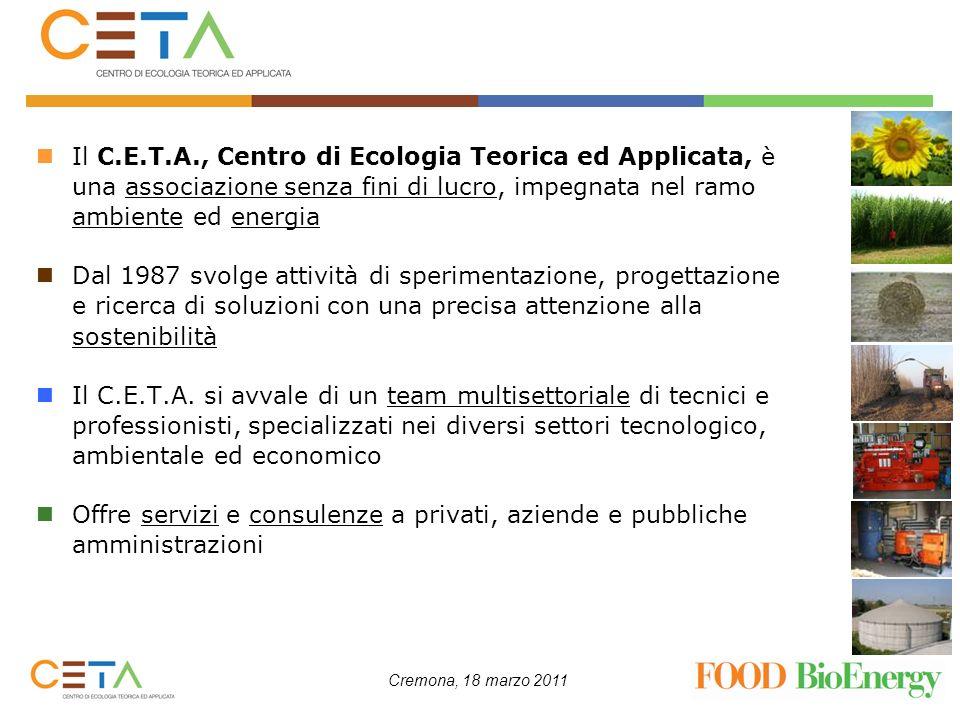 Il C.E.T.A., Centro di Ecologia Teorica ed Applicata, è una associazione senza fini di lucro, impegnata nel ramo ambiente ed energia