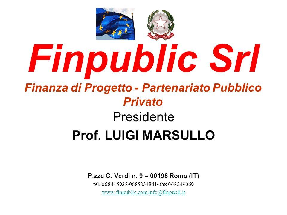Finpublic Srl Finanza di Progetto - Partenariato Pubblico Privato