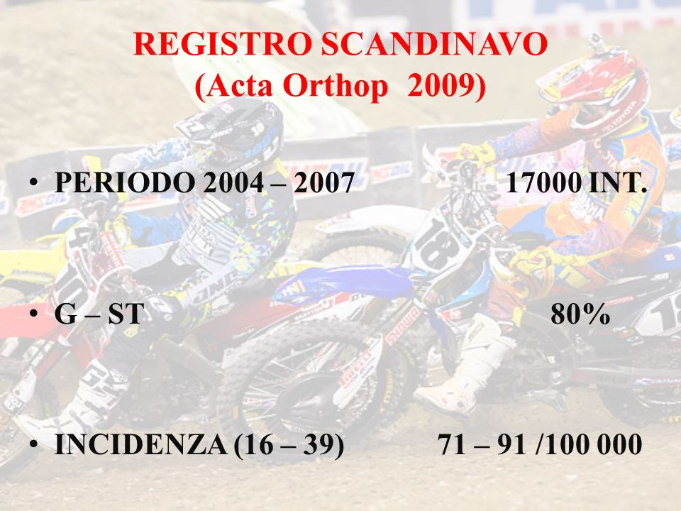 REGISTRO SCANDINAVO (Acta Orthop 2009)