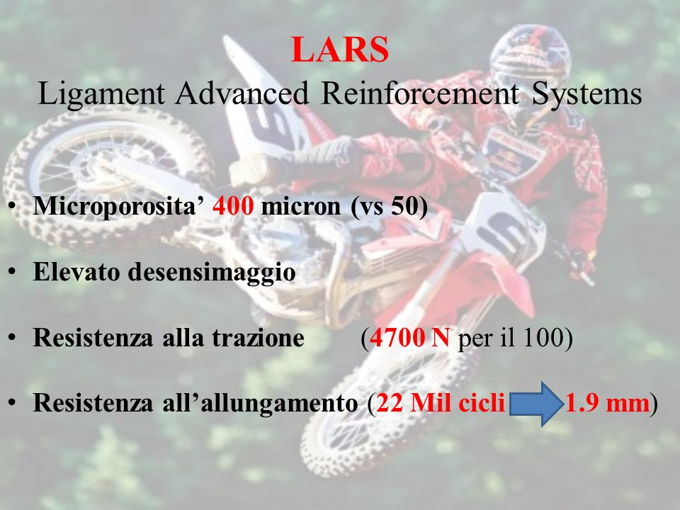 LARS Ligament Advanced Reinforcement Systems
