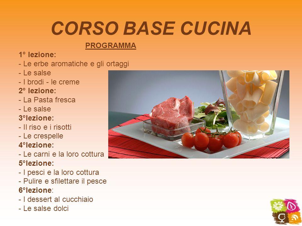 CORSO BASE CUCINA PROGRAMMA