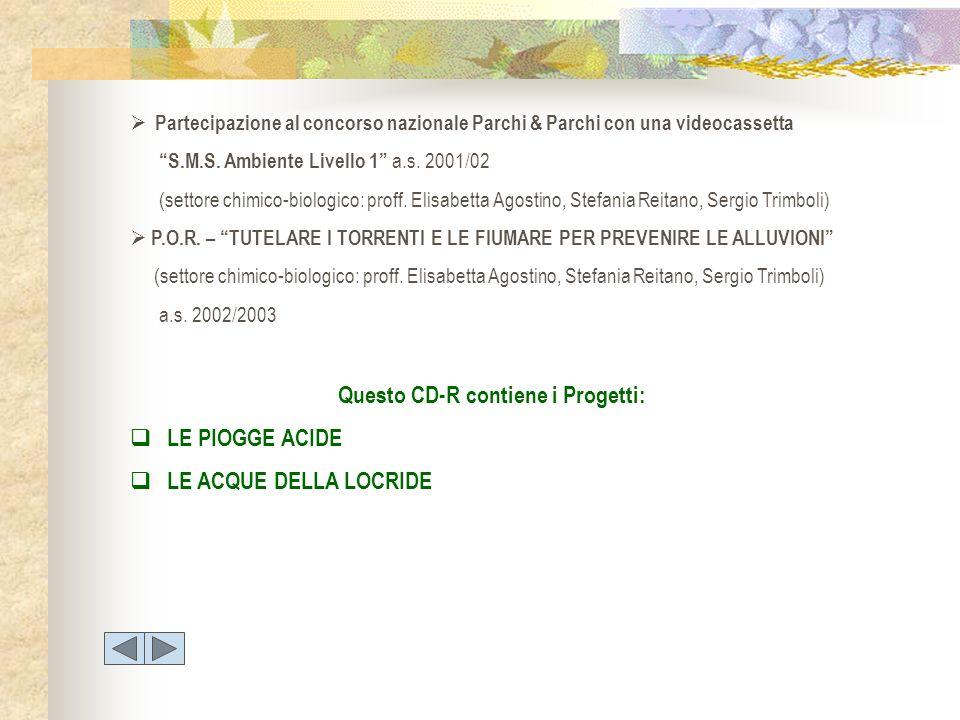 Questo CD-R contiene i Progetti: