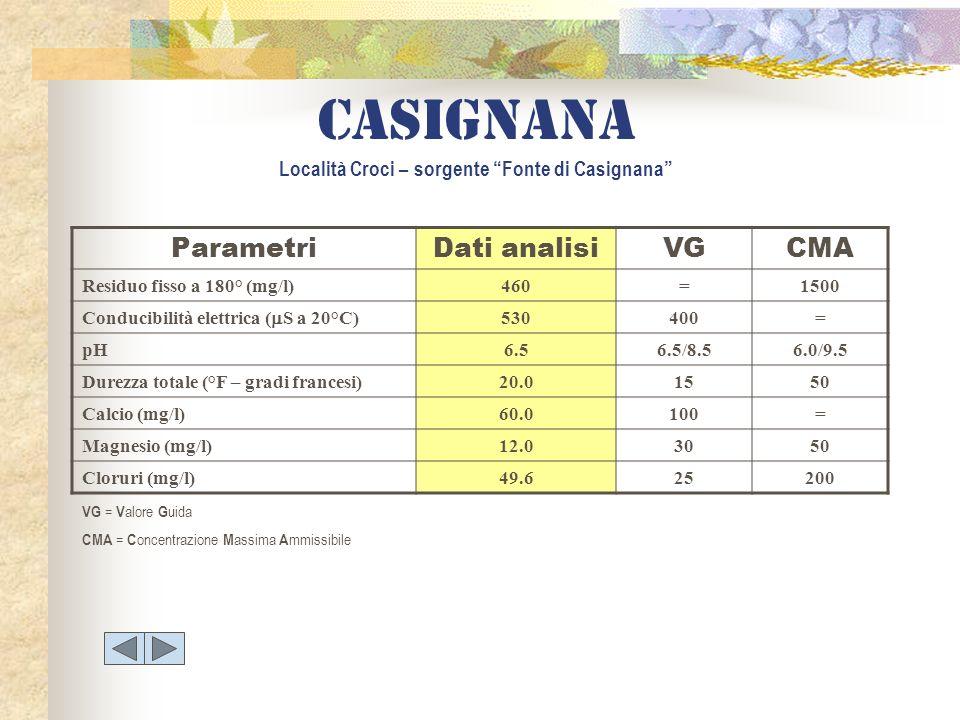 Casignana Località Croci – sorgente Fonte di Casignana