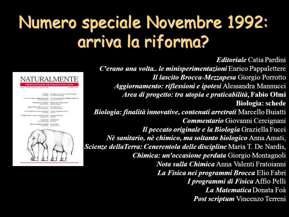 Numero speciale Novembre 1992: arriva la riforma