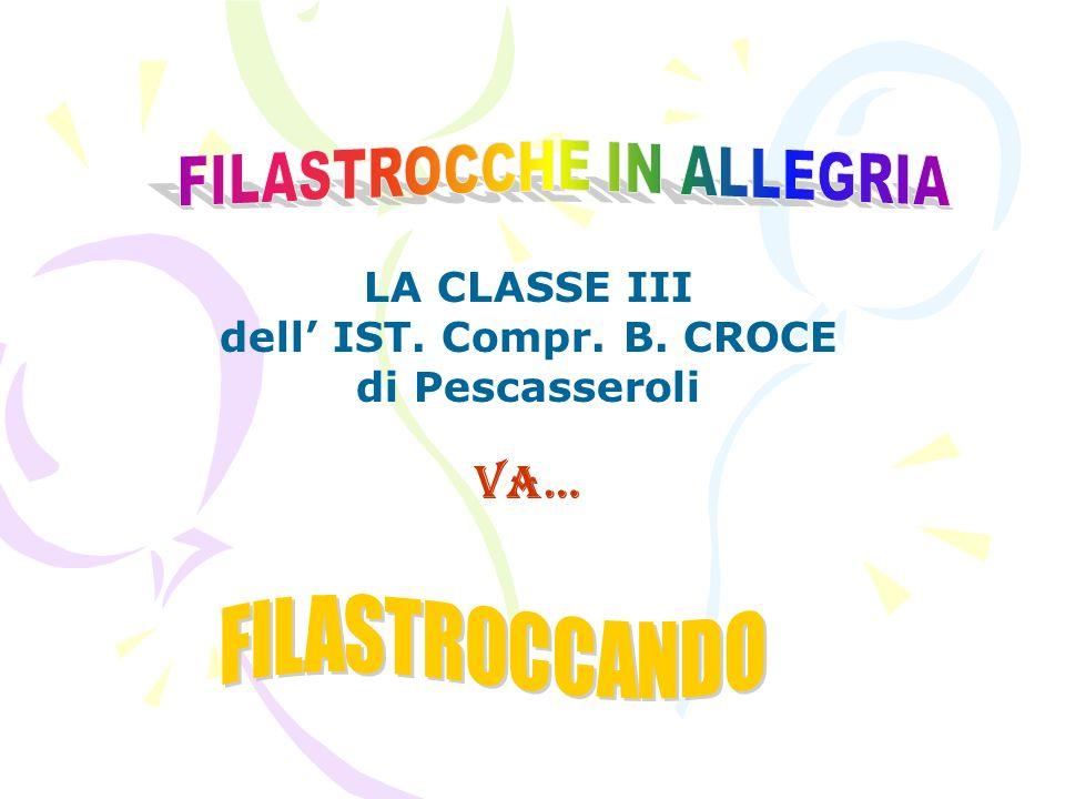 LA CLASSE III dell' IST. Compr. B. CROCE di Pescasseroli va…
