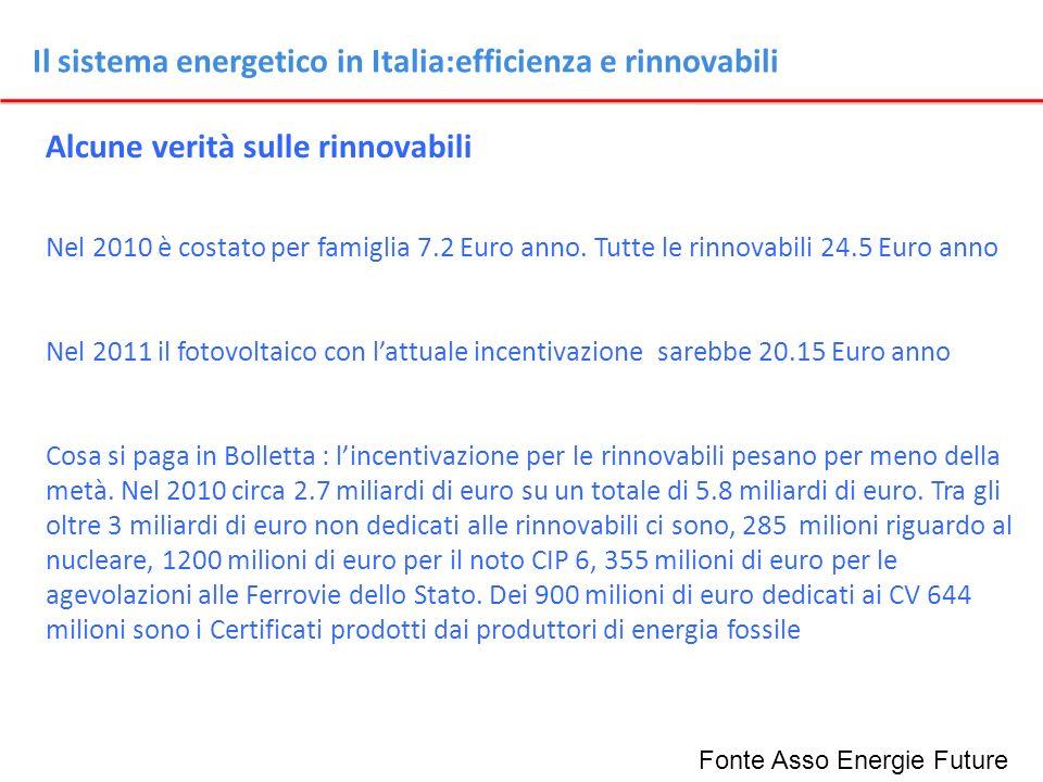 Il sistema energetico in Italia:efficienza e rinnovabili
