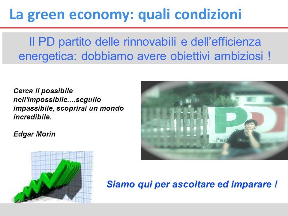 La green economy: quali condizioni