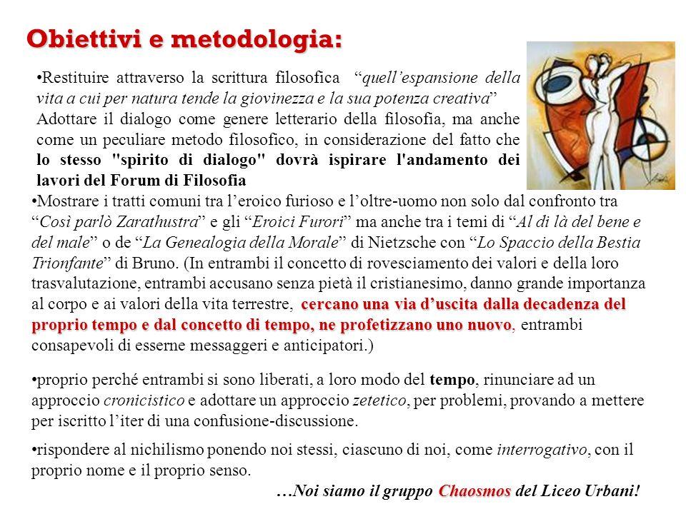 Obiettivi e metodologia: